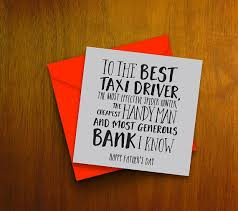 fathers day card the best taxi driver handy many bank