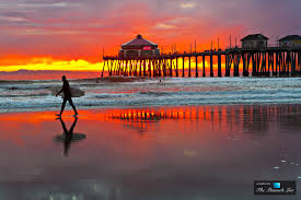 huntington beach california is paradise for surfers and sunset