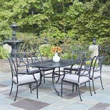 oval aluminum patio table athens charcoal 7 piece all weather cast aluminum patio dining set