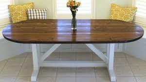 How To Build A Farmhouse Table How To Build A Farmhouse Table Racetrack Design Youtube