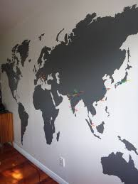 Wall Map Murals Extra Large World Map Vinyl Wall Sticker Office Interiors Wall