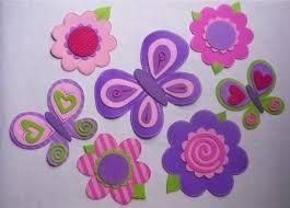flores de foamy resultado de imagen para moldes de mariposasy mariquitas en goma