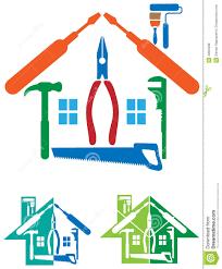 Home Improvement Logo Design House Repair Logo Stock Vector Image 43822238