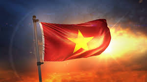 Viet Nam Flag Vietnam Flag Backlit At Beautiful Sunrise Loop Slow Motion 4k