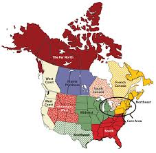 North Western United States Map by Regions Of The United States And Canada