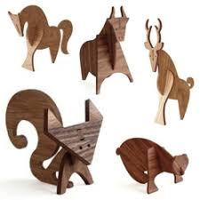 moderne wood animals designed by linnea gits and dunham
