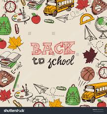 back school greeting card stock vector 307007570