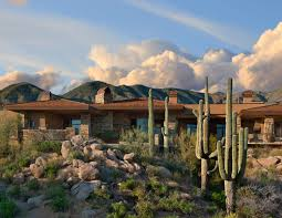 Southwestern Home by Southwest Saguaro Forest Ii Urban Design Associates