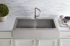 Kohler Apron Front Kitchen Sink Farmhouse Fast Fix Kohler Adds Top Mount Self Trimming Apron