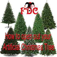 how to open artificial tree branches
