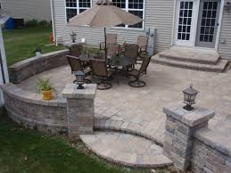 Cost Paver Patio Brick Pavers On Unibase System Lifetime Warranty Traditional