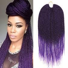 crochet braids 18 crochet braids kanekalon braiding hair ombre purple senegalese