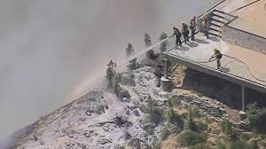 photos wildfire forces people from burbank homes nbc southern