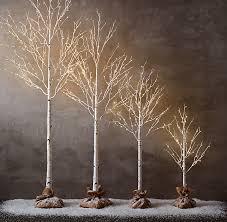 lighted birch tree birch trees billies flower house