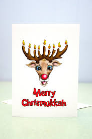 chrismukkah decorations chrismukkah cards pack of 4 cards chanukah and