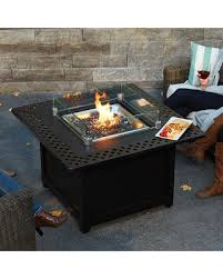 Gas Firepit Table Shopping Deals On Napoleon Kensington Square Patioflame Gas