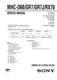 sony mhc rx70 service manual immediate download