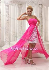dresses for graduation for 5th graders pink high low ruched 5th grade graduation dresses with lace