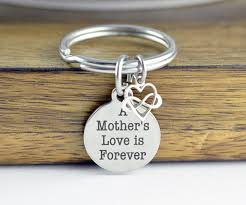 personalized keychain gifts a mothers is forever keychain personalized keychain