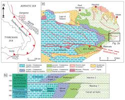 Map Of Southern Italy by Mass Transport Deposits Within Basinal Carbonates From Southern