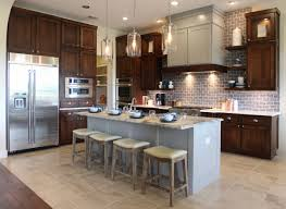 backsplash kitchens with different color cabinets new kitchen in