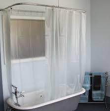Clawfoot Tub Bathroom Design Ideas by Bathroom Simple Clawfoot Tub Bathroom Ideas With Tulle Curtain