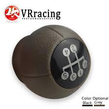 vr racing black grey 5 speed manual gear shift knob for opel