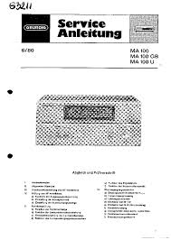 Grundig C430 Portable Casette Recorder Sch Service Manual Download