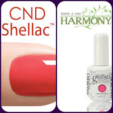 cnd shellac and harmony gelish are a must have on my nails for