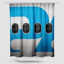 Airplane Shower Curtain Shower Curtain Pan Am Airplane Windows Airportag