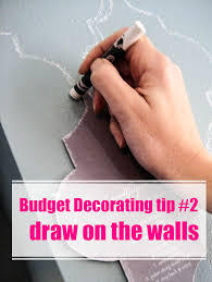 How To Get Crayon Off Walls by How To Decorate On A Tight Budget