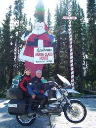santa claus house north pole ak jeff munn has ridden over 400 000 miles on 3 bmw u0027s and plans to