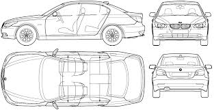 2004 bmw 5 series e60 sedan blueprints free outlines