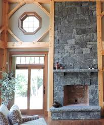 cozy rustic fireplace design corinthian granite squared and