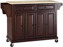 mahogany kitchen island amazon com crosley furniture rolling kitchen island with