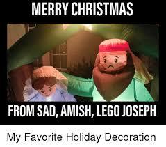 Merry Christmas Funny Meme - merry christmas from sad amish lego joseph christmas meme on me me