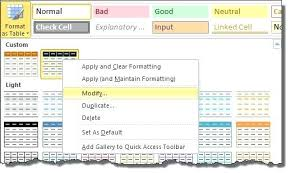 Change Table Style Excel Table Styles Modifying An Excel Table Excel Table Style