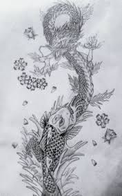 maple leaf tattoo meaning 42 best koi dragon tattoo drawings images on pinterest koi