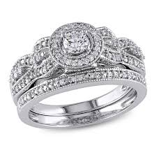 white gold bridal sets 10k white gold i2 i3 diamond bridal set 1 2 ctw samuels jewelers