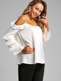 shoulder blouse cold shoulder blouse peek a boo blouse fashion online zaful