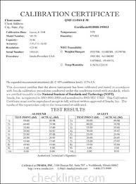 sle nist traceable calibration certificates nist cal