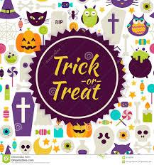 Free Halloween Vector Art Flat Vector Trick Or Treat Halloween Background Stock Vector