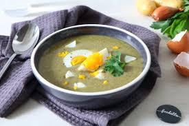 comment cuisiner l oseille soupe polonaise à l oseille la recette de soupe polonaise à l