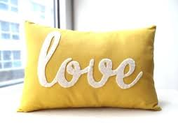 Decorative Yellow Pillows Fashionable Yellow Decorative Pillow