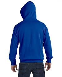 gildan 18600 heavy blend full zip hooded sweatshirt l royal ebay