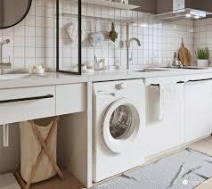 Washing Machine In Kitchen Design Apartments Kitchen Washing Machine Three Cozy Apartments That