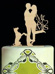 romantic wedding cake topper personalized cake toppers with dog