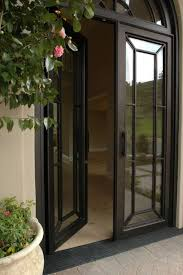 French Doors With Transom - traditional front door with arched window by mike fletcher