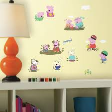 roommates 5 in w x 11 5 in h peppa the pig 28 piece peel and