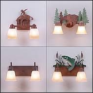 Rustic Bathroom Lighting - rustic bath vanity lights handcrafted rustic lights by avalanche